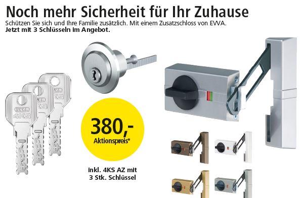 EVVA Aktionspreis 380,- inkl. 4KS AZ mit 3 Stk. Schlüssel